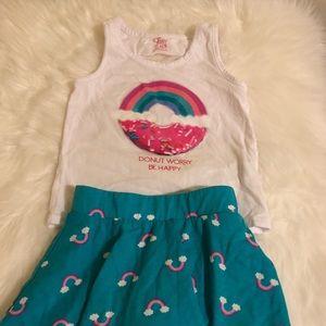 🌼 Children's Place Girls Skort w/matching Top🌼